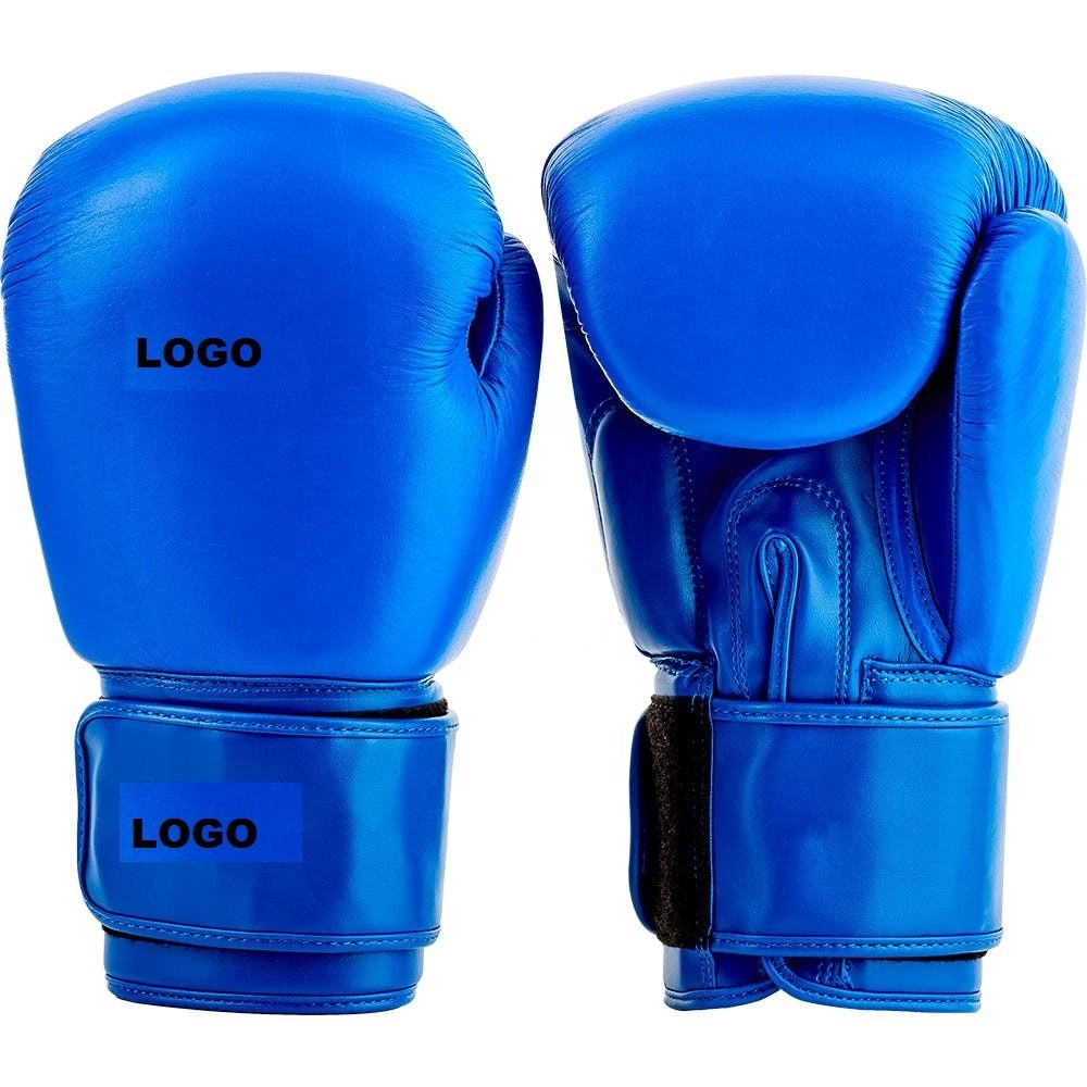 Private Label Custom Boxing Gloves Hand Made washable blue buffalo leather boxing gloves Multi Training Muay Thai PU Leather