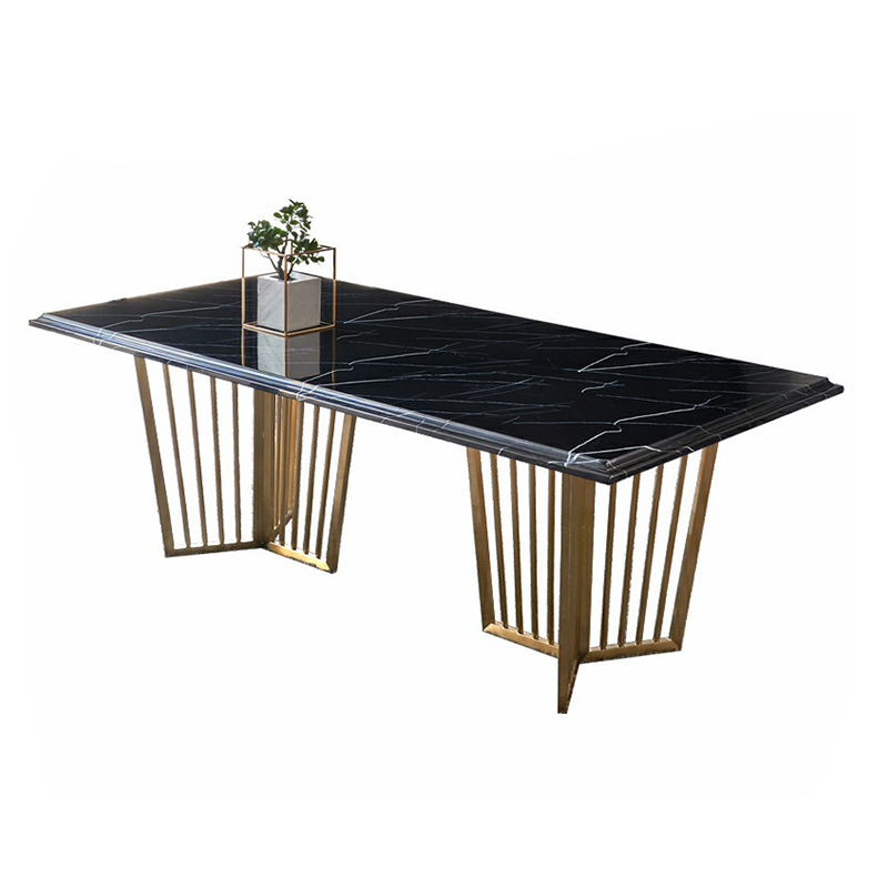 Luxury Rose Gold Black Marble Dining Table Set Buy Dining Table Set Luxury Dining Table Set Rose Gold Dining Table Product On Alibaba Com