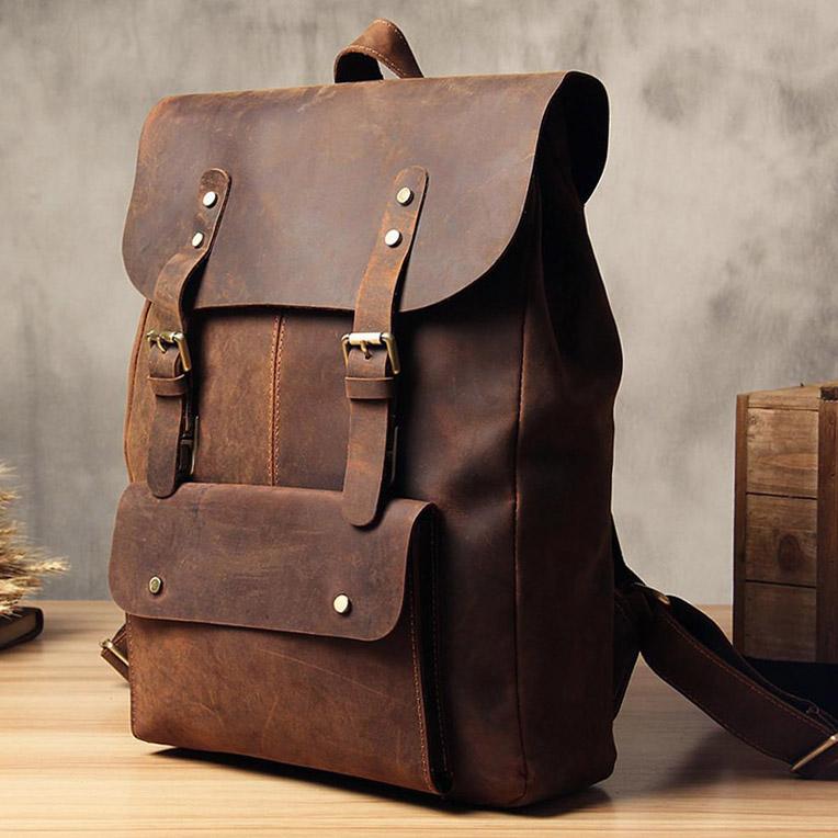 Vintage Mens Leather Backpacks - Buy Custom Gift Manufacturer Style Handbag,Genuine Leather Backpack,Waterproof Leather Backpack Product on Alibaba.com