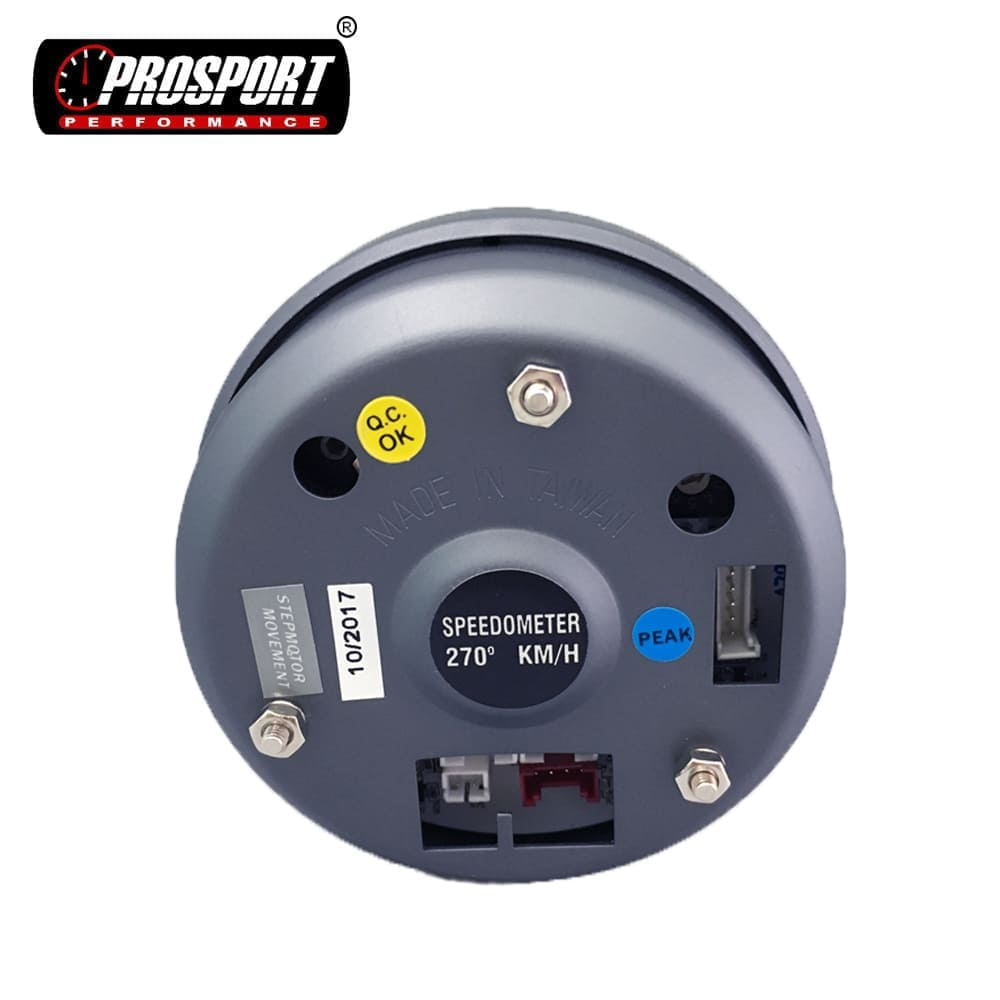 80mm Car Electronic 3 Color LED Speedometer Gauge