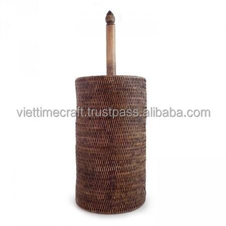 Аксессуары для ванной комнаты из ротанга/держатель рулона туалета коричневого цвета