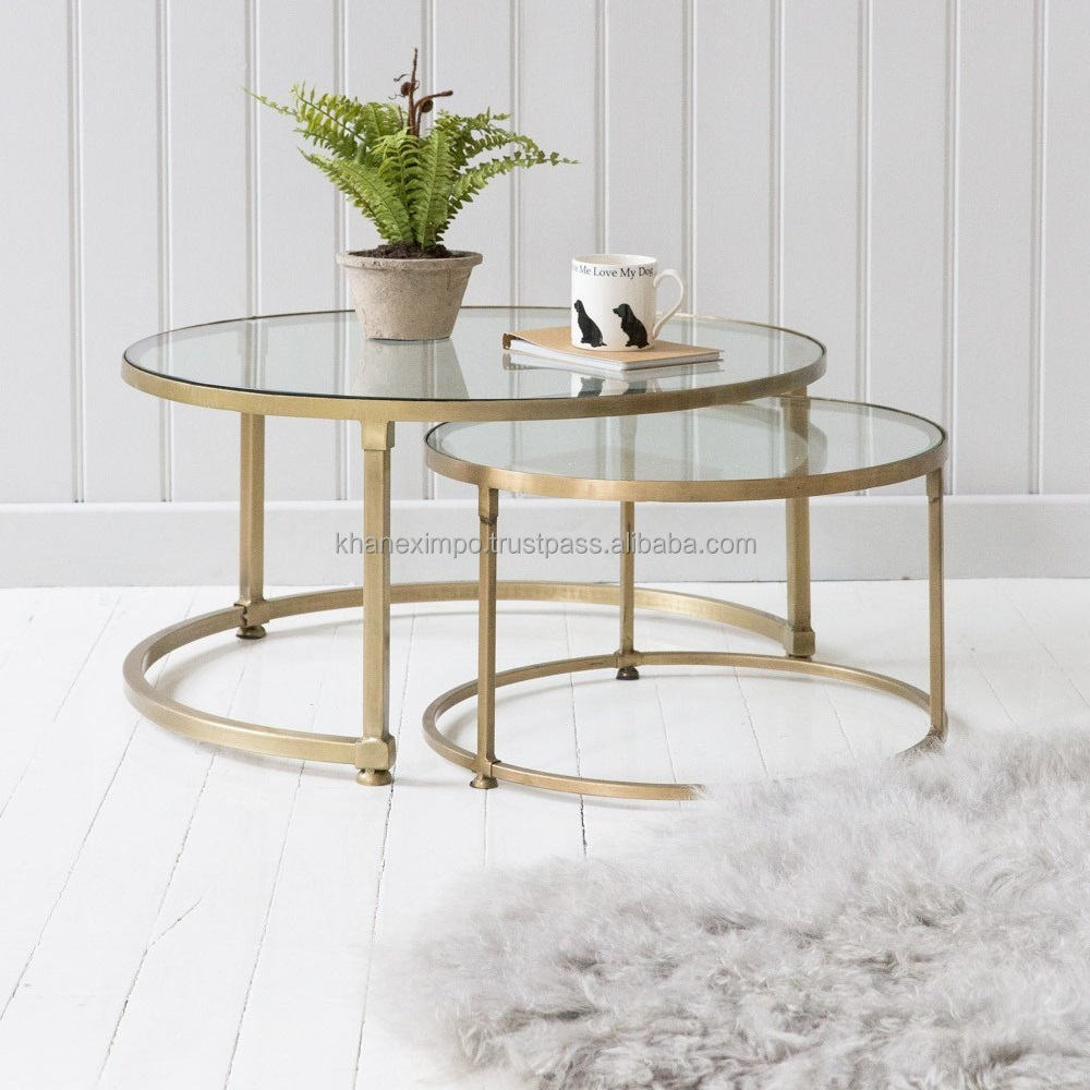 Living Room Furniture Gold Frame Coffee Table Contemporary Metal Legs And Glass Top Modern Round Cocktail Table Buy Living Room Furniture Gold Frame Coffee Table Contemporary Metal Legs And Glass Top