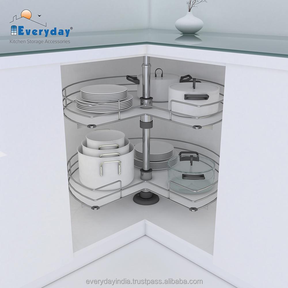 Kitchen Accessories Magic Corner Blind Corner Shelves Revolving ...