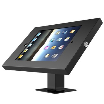Anti-theft tablet stand with tilt and swivel function