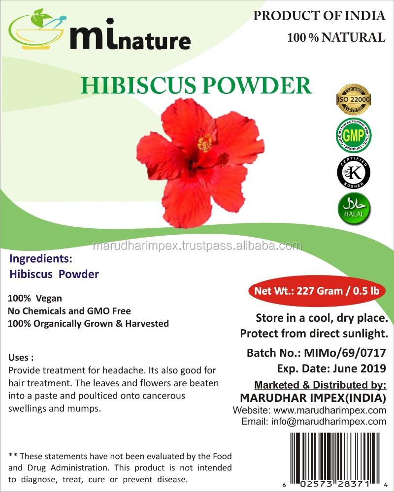 USDA органический Сертифицированный порошок гибискуса/mi натуральный порошок гибискуса (sabqueen ffa)