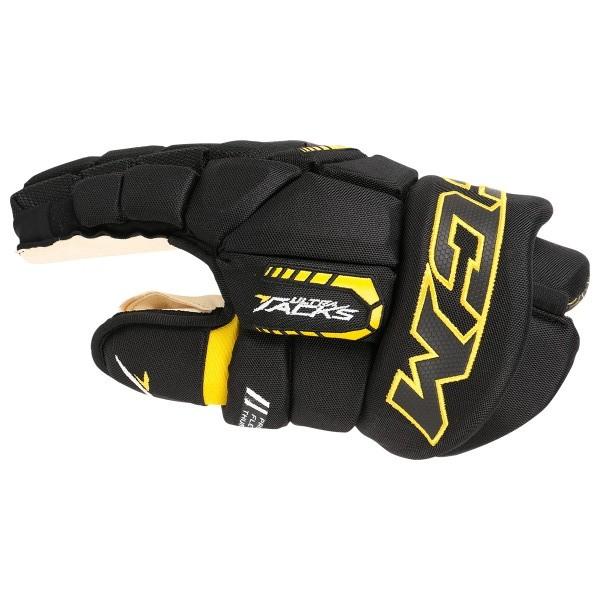 Ultra Tacks Sr. Hockey Gloves black/yellow