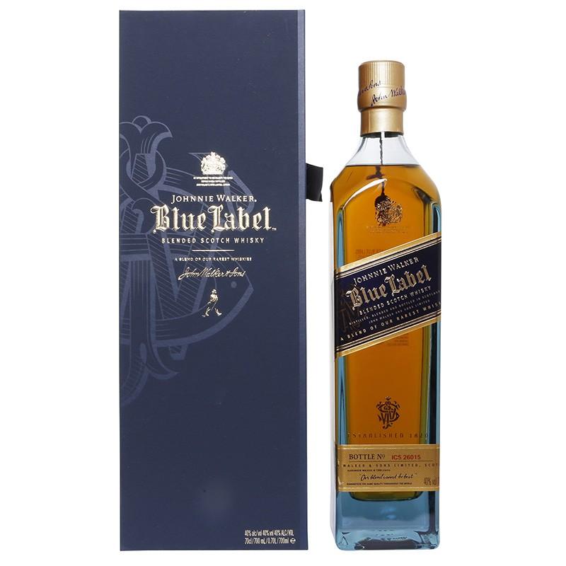 Виски с голубой этикеткой Johnnie Walker, смешанный шотландский виски 70cl