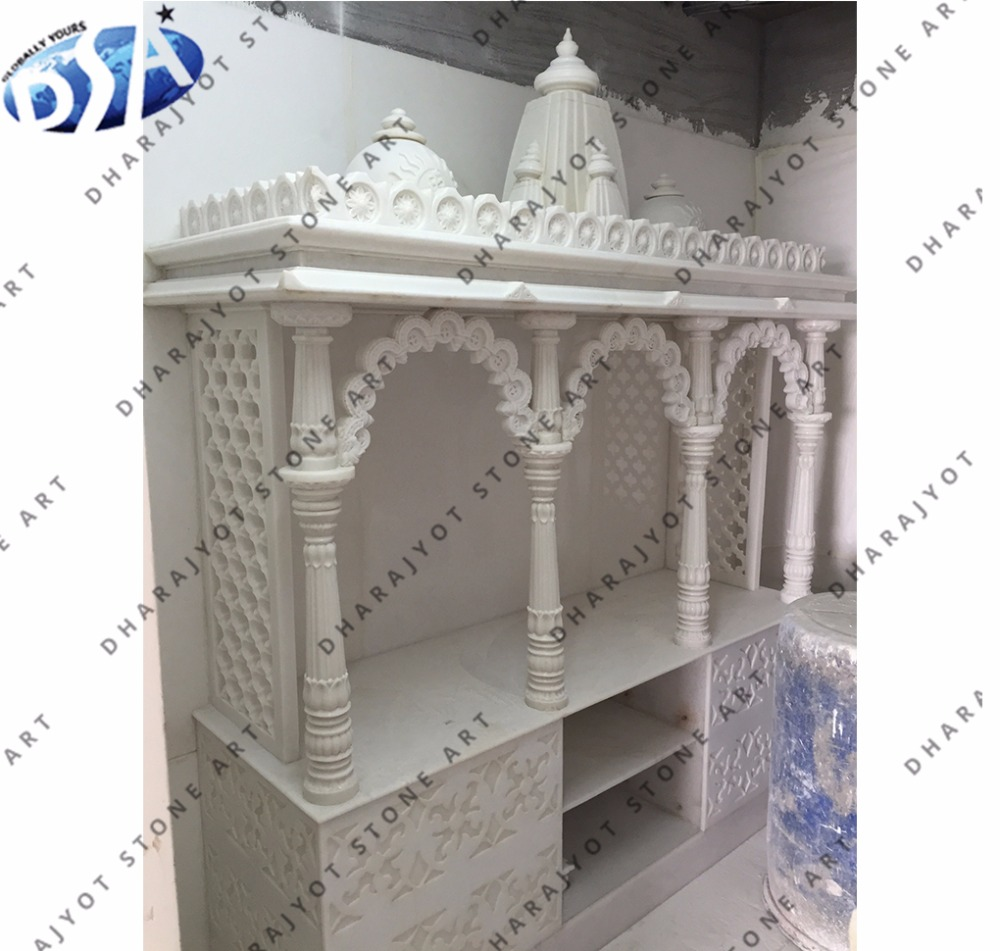 White Marble Temple Pooja Mandir For Home Buy Pooja Mandir For Sale Indian Mandir For Home Mandir Design For Home Product On Alibaba Com