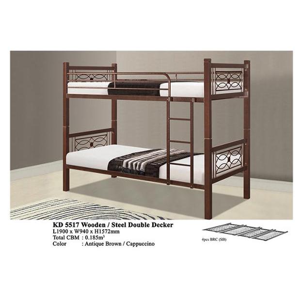 Antique Wooden Metal Domica Kd 5517 Double Decker Bunk Bed Malaysia Buy Wooden Double Decker Bed Adult Metal Bunk Beds Bunk Bed Product On Alibaba Com