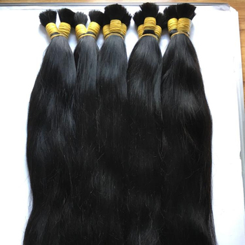 Wholesale Human Hair Bulk Cheap Price SIngle Drawn Double Drawn Braiding Hair
