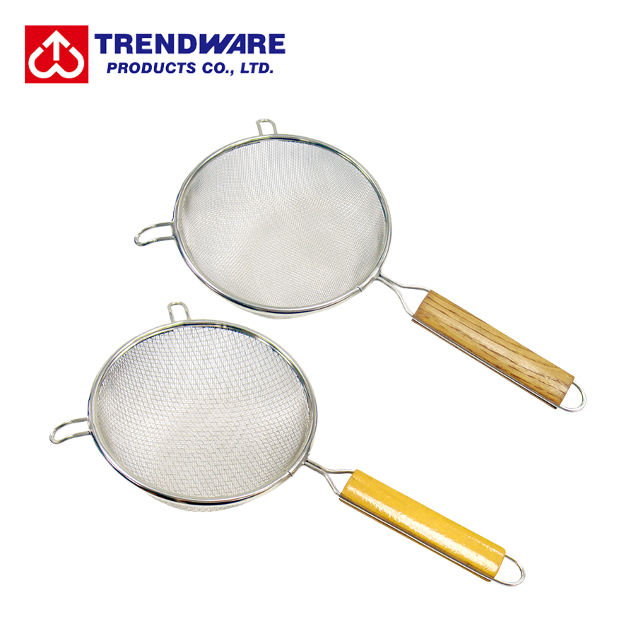 Kitchen Stainless Steel Fine Medium Wire Single Double Round Mesh Strainer View Stainless Steel Strainer Trendware Product Details From Trendware Products Co Ltd On Alibaba Com