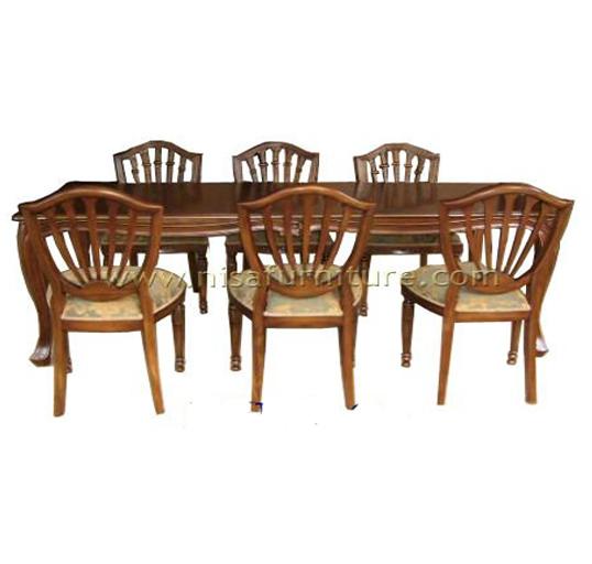 Clássico Mesa De Jantar Em Madeira Maciça E Cadeiras 6 Buy Dining Table Dining Chair Dining Chairs And Table Product On Alibaba Com