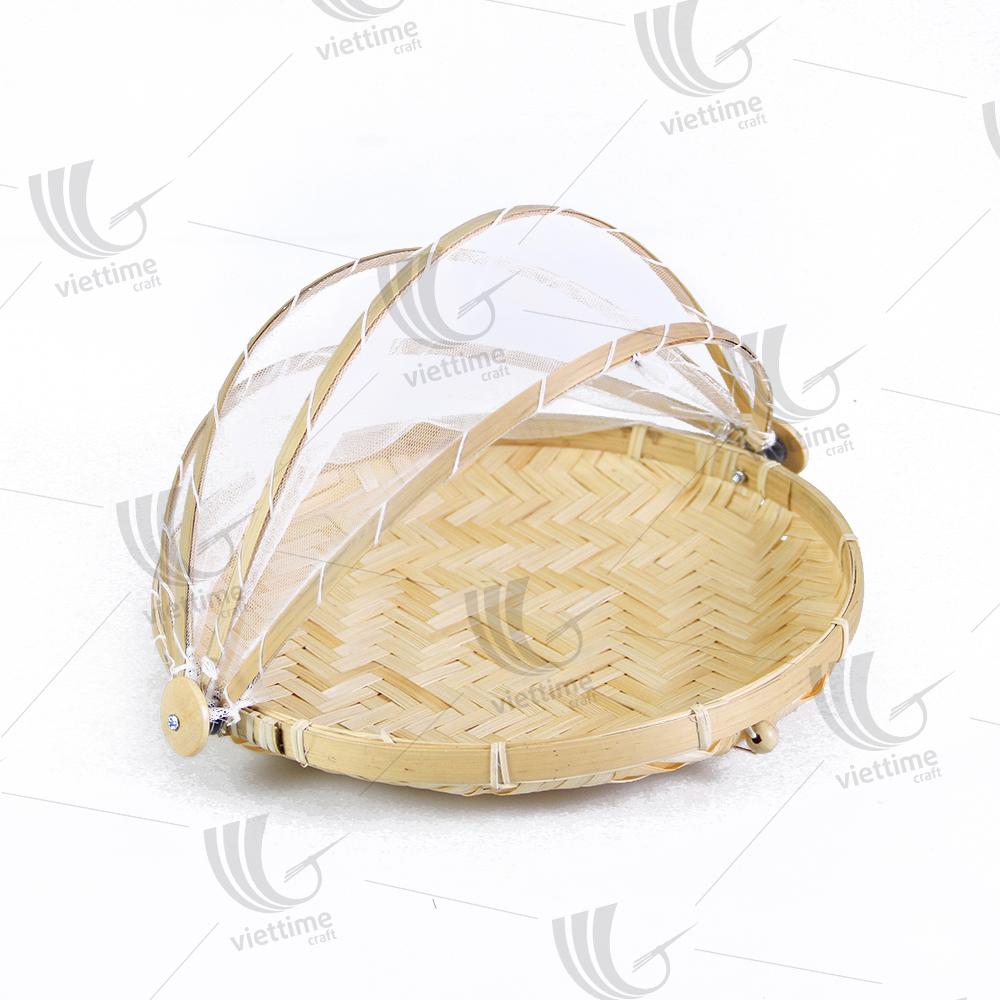 Деликатное плетеное бамбуковое покрытие для еды, дешевая защита еды оптом