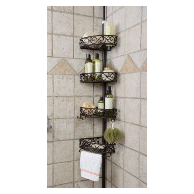 Telescopic Shower Rack With 3 Or 4 Tier Expandable Bath Shelf Bath Shower Corner Caddy Tension Pole Corner Caddy Buy Bathroom Space Saver Shower Corner Caddy Shower Caddy Corner Shelf Product On Alibaba Com