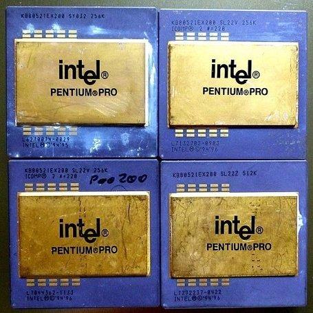 Керамический процессор процессора Intel Pentium Pro лом с золотыми штифтами