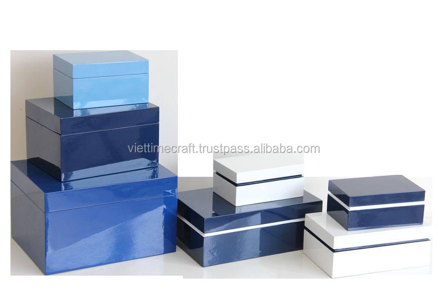 Высококачественные прямоугольные деревянные коробки с крышкой