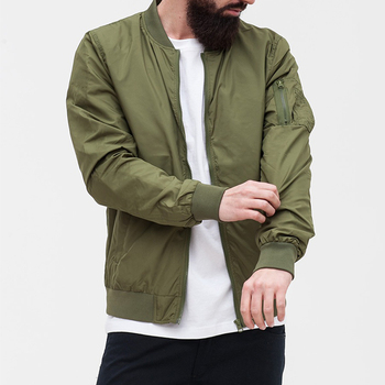 Custom olive bomber green bomber jacket/New Design Men Army Green Custom Bomber Jacket/Europe Style Custom Bomber Jackets
