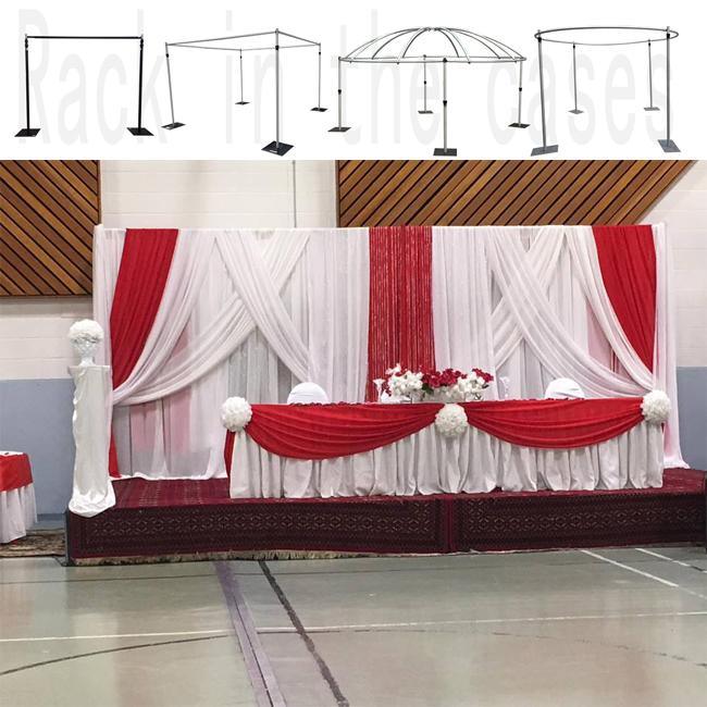 White Ice Silk BACKDROP Wedding Drape Overlay Economy Stage LED Fairy Lights UK