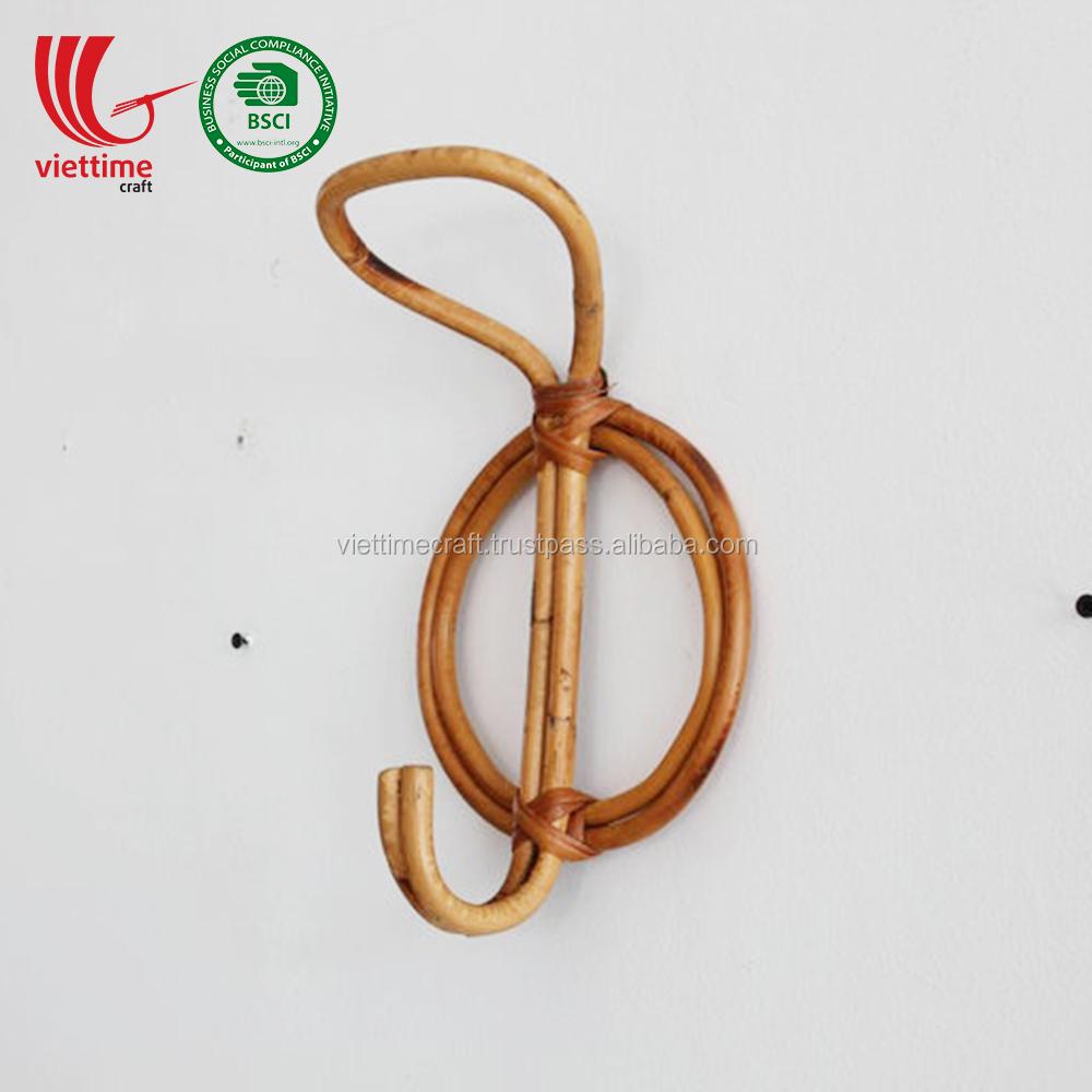 Настенный крючок из ротанга в винтажном стиле для уникального дома, оптовая продажа