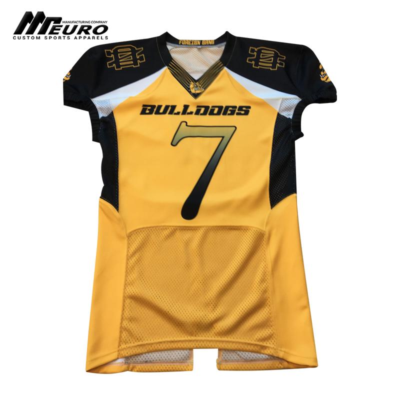 American Football Jersey Custom Yellow & Black - Buy American ...