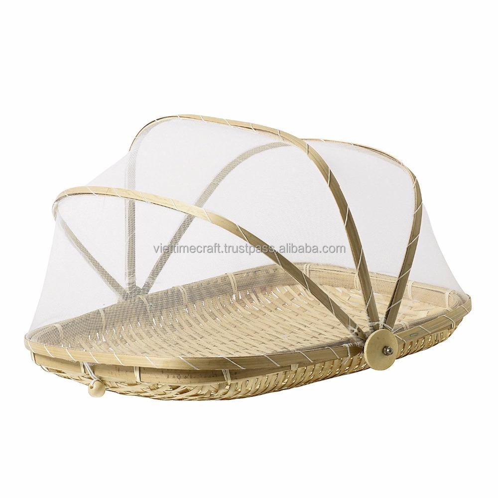 Бамбуковая Крышка для еды/крышка для еды из натурального бамбука