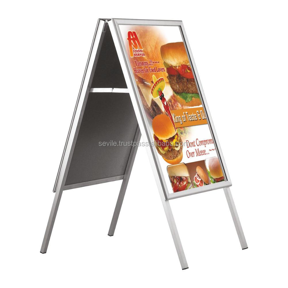 A2 A-BOARD PAVEMENT SIGN POSTER SNAP FRAME DOUBLE SIDE DISPLAY STAND