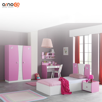 Pink kids home furniture children bedroom sets children furniture sets lovely kids duru room furniture