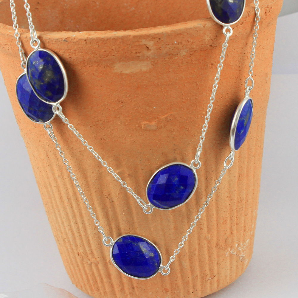 Lapis Lazuli Natural Gemstone 925 Sterling Fine Silver Pendant Jewellery silver pendant price,make a silver pendant,silver pendant buy