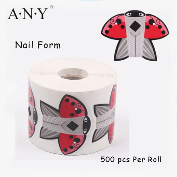 Nail Art False Nails Building 9 Lines disposable Paper Swallow Nail Form Manufacturer