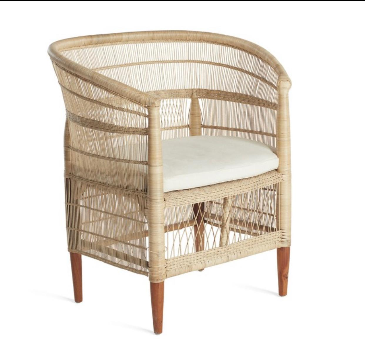 Garden Outdoor Furniture Wicker Rattan Bamboo Malawi Chair for Hotels and Restaurants