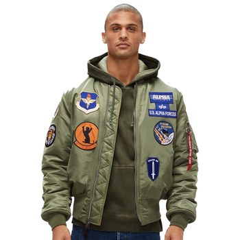 2020 High quality Thick and thin flight jacket men Army Green Military motorcycle Ma-1 aviator pilot jacket