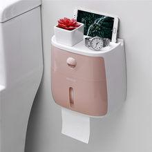 Туалет держатель для туалетной бумаги настенный держатель для туалетной бумаги с полка-органайзер для ванной пластиковая коробка для руло...(Китай)