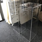 "Acrylic Display Stand Up Display 12x12x32"" Transparent Plinths Perspex Pedestal Toy Acrylic Pen Display Stand"