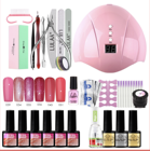 Gel Nail Polish Kit with 36W U V LED Nail Lamp Modelones 6 Colors