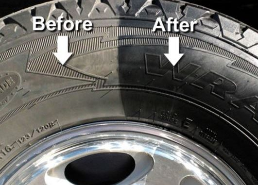 Tire Tyre Shine Wet Look Aerosol Liquid Spray Gel Black