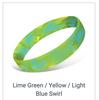 Lime Green Yellow Light Blue Swirl