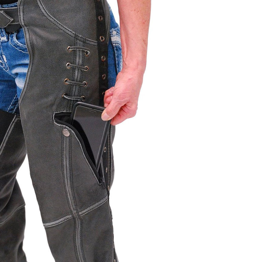 Pakistan Made Low Prize Black Leather Chaps Motorcycle Riding Chaps Size 5XL / Best Sale price In Pakistan horse Full Chaps