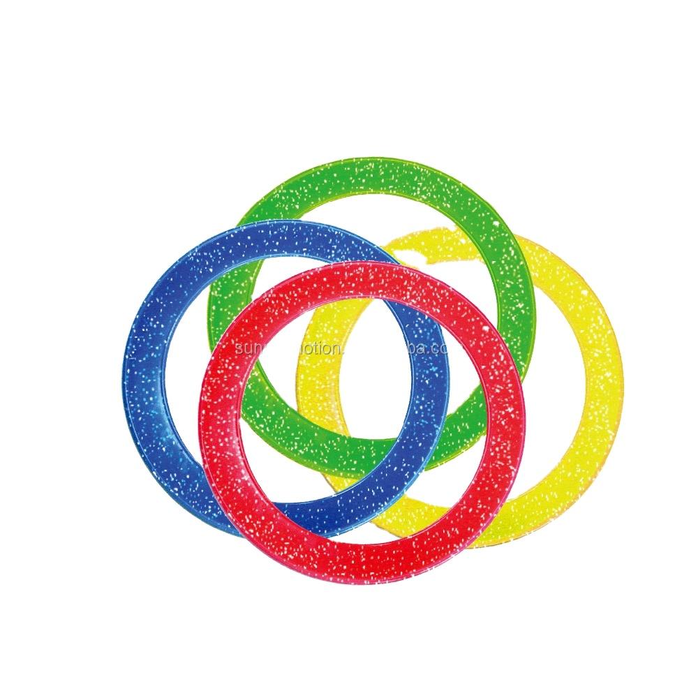 Оптовая продажа, хорошее качество, пластиковые цветные кольца, кольца для жонглирования