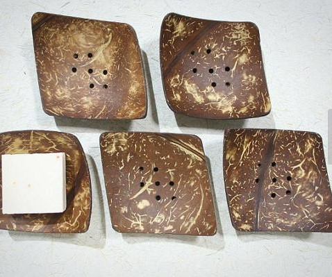 Details about  / Coconut Shell Soap Dish Holder CEYLON Handmade Eco Friendly Natural REUSABLE