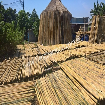 PAINTED BAMBOO POLE - BAMBOO MATERIAL - BAMBOO CONSTRUCTION