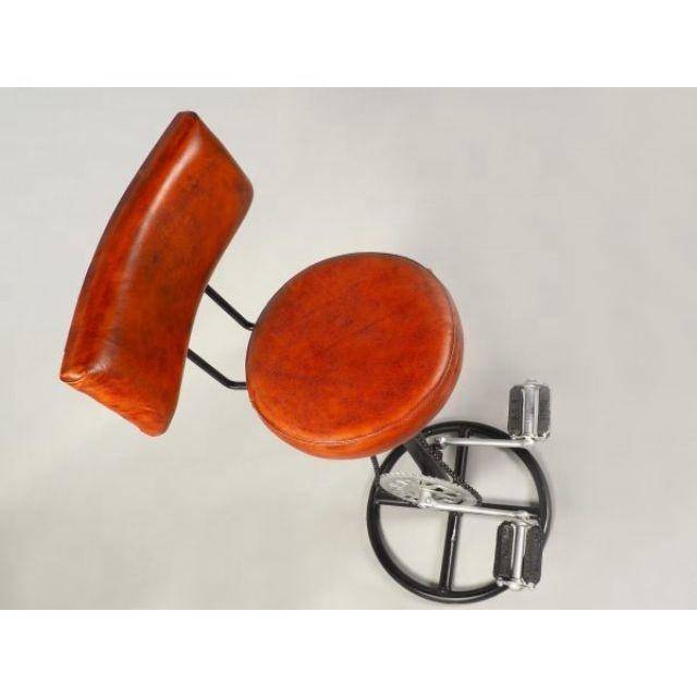 Винтажный промышленный велосипедный стул, кожаный Железный барный стул