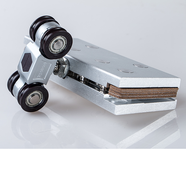 Track shower frame bottom cabinet glass stopper closet silent aluminium set parts door rollers for sliding door hanging wheels