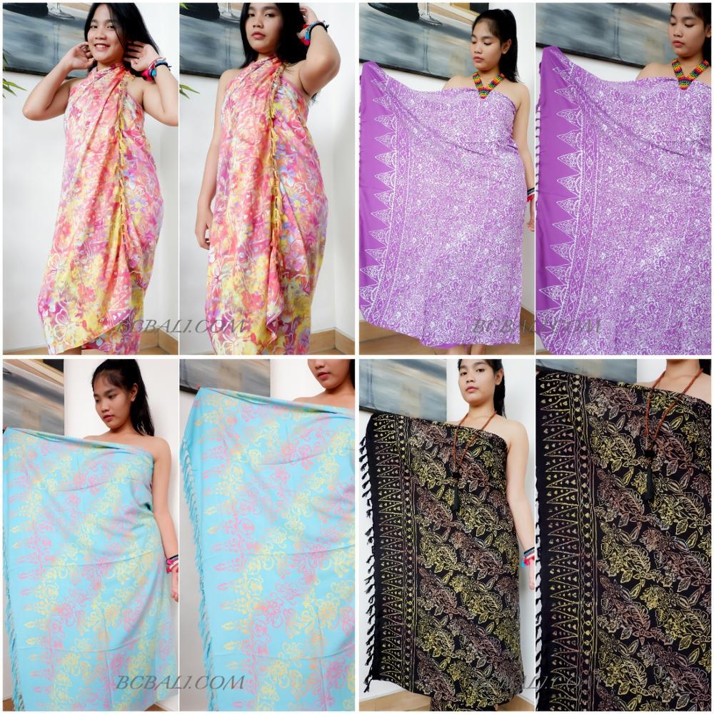 Оптовая цена Этническая пляжная одежда плащ остров саронг искусственный батик печать лучшее качество из бали