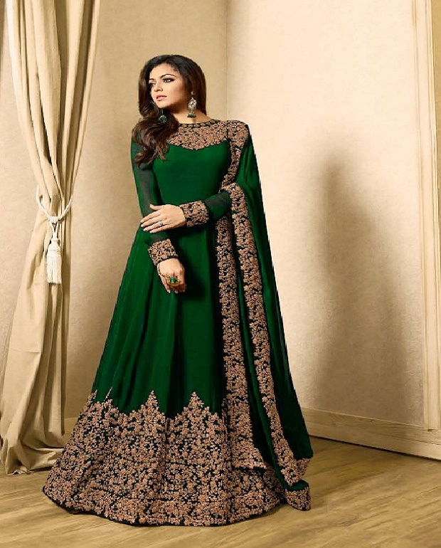 Indian Style Party Wear Fancy Evening Gown Embroidery Work With Low Price Buy Evening Dresses 2018 Long Gown Formal Pictures Of Long Gown Gown Product On Alibaba Com