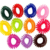 Rubber Hair Tie Assorted Colors - Elastic Coil Hair Band - Wristband Spring Bracelet - Party Favor Carnival Prize