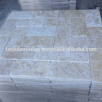 "Classic Travertine , 6x12"" (153x305x30 mm) Paver - Tumbled / dry photo"