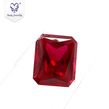 Tianyu Gems Precious stones ruby rectangular octagon shape ruby gemstone lab grown gemstone loose stone