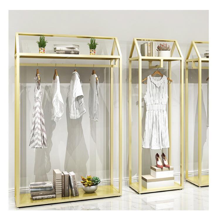 Популярный розничный магазин, модная вешалка для демонстрации одежды