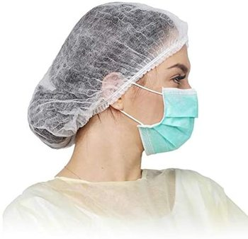 Disposable Nonwoven Bouffant Caps Hair Net for Salon Spa Catering and Dust-free Workspace