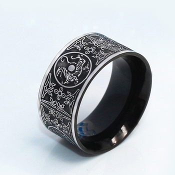 Wholesale Viking Bague Homme Thor Azure Dragon Four God Beasts Ring for Men Jewelry